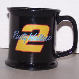 NASCAR RUSTY WALLACE #2 BLACK COFFEE CUP S3342